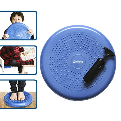 Wiggle Seat for Kids:: Inflatable Wobble Cushion/Wiggle Cushion | Flexible Seating - Perfect for Classroom & Home :: Ages 3 & Up, 13 x