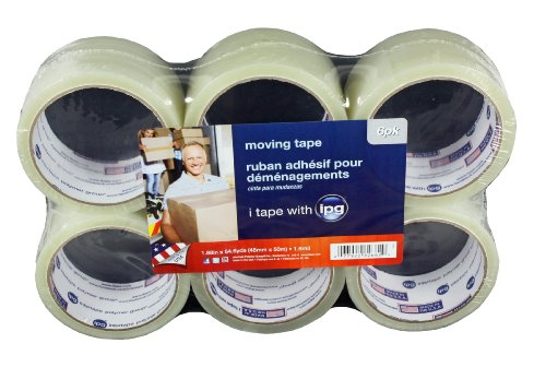 Intertape Polymer Group 89263 Carton Sealing Tape 1.6Mil 1.9-Inches x 54.6 Yard, 6-Pack, - Shipping Usps Economy