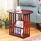 Home N Kitchenware Collection Wooden Drop Leaf Side/End Table, Folds, Rotates, Cherry