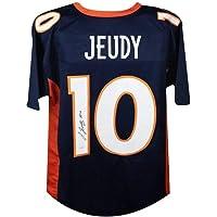 $139 » Jerry Jeudy Autographed Denver Broncos Custom Football Jersey - JSA COA