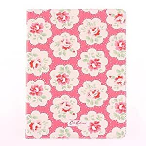 NEW Safflower Powdery Bottom Pattern PU Leather Full Body Case with Stand for iPad 2/3/4