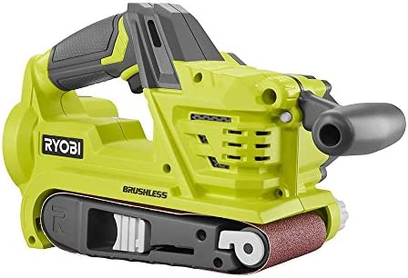 Ryobi P450 One 18V Lithium Ion 3 x 18 inch Brushless Belt Sander w Dust Bag and Included Sanding Pad Battery Not Included, Tool Only
