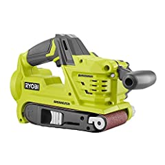 The Ryobi P450 is a belt sander that will work for many home improvement projects. It's cordless, so you can work on furniture and flooring alike. You can collect dust with the included bag or hook this tool up to a dry vacuum for endless col...