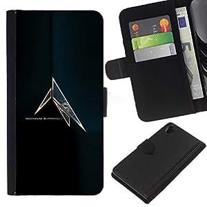 LECELL--Cuero de la tarjeta la carpeta del tirón Smartphone Slots Protección Holder For Sony Xperia Z2 D6502 -- Máquina Supremacía --