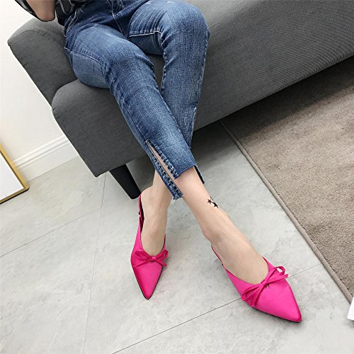 Heel Comfort Love Slip 3eu Red Mujer Beauty Con On 1 37 Tacn Size Angel Sandalias Red Shoes De Cordones Bajo color 04YPcwq