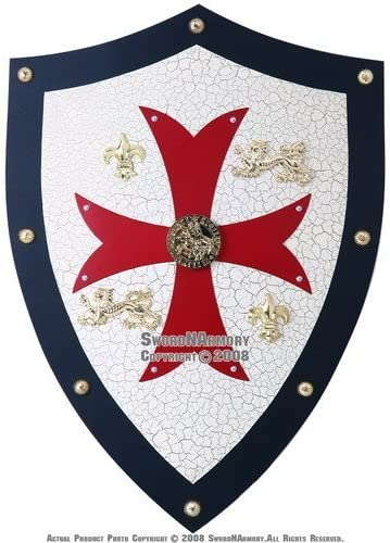 Knight Templar Royal Crusader Shield Red Cross w/ Grid 51wK2EYeijL
