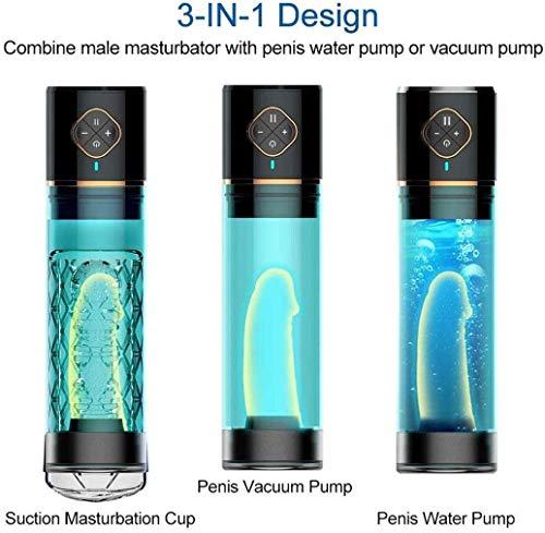 Enlargẹmẹnt Pump for Mẹn Water Pump Men's P'ênis Electric Vacuum Pump Vacuum Enlargěměnt Pump for Overcome Erèctilè Dysfunction,Men's Automatic Enhancement Training Device Increased 30% Size