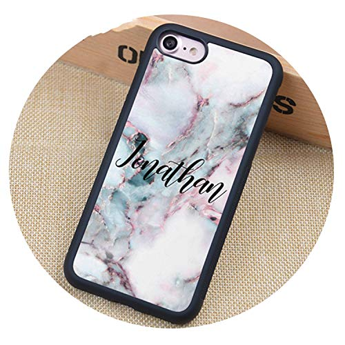 Marble Personalised Name Soft Rubber Mobile Phone Cases for iPhone 7 8 6S Plus X XS MAX XR 5S SE Cover Skin Shell,4905,for iPhone 7