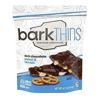 barkTHINS Dark Chocolate (Pretzel with Sea Salt) snacks, 4.7oz (Pack of 6)