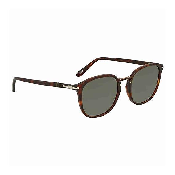 Persol Men s 0Po3186S 24 31 53 Sunglasses, Brown (Havana Green ... 02fccd195333