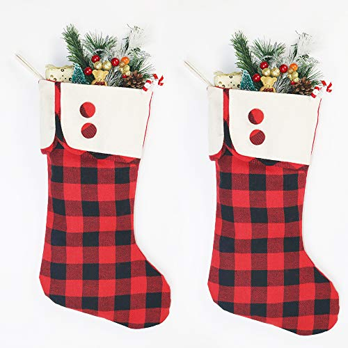 DXZMNCA Set of 2 Christmas Stocking for Holiday Party Decorations Gift