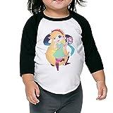 Kid's Star Vs The Forces Of Evil Logo Toddler Boy's Girl's 3/4 Sleeves Raglan T-Shirt 100% Cotton 4 Toddler