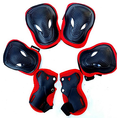 PRINTEMPS 3 In 1 Protective Gear Kids Safety Pad Knee Elbow Pads Wrist Guards Sports Protective Gear for Skateboard Roller Skates Mountain Bike Outdoor Sports by PRINTEMPS