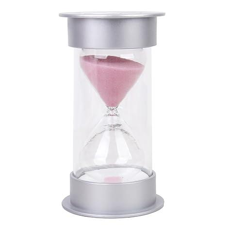 Reloj de Arena de 15 Minutos con Arena de Color Rosa