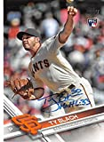 Ty Blach autographed baseball card (San Francisco Giants) 2017 Topps #625 Rookie