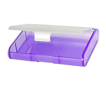 Amazon business card caddy 4x3 translucent purple with business card caddy 4quotx3quot translucent purple with colourmoves Image collections