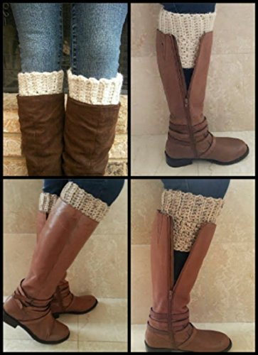 Boot Sock Cuffs for Women Wool Crochet Made in (Snug Knitted Boot)