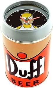 United Labels 0109477 Los Simpson - Despertador con diseño de Homer y cerveza Duff