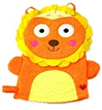 Two's Company Happi Animal Wash Mitts Orange Lion Set of 2