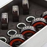 NEAL Precision Skate Bearings / 4 Different Types - Ceramic - Swiss - Titanium - Steel / 608rs - Skateboard - Longboard - Inline - Scooter. The Best Bearings GUARANTEED.