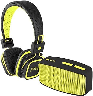 NGS Glitter Yellow - Pack de auriculares y altavoz con Bluetooth: Amazon.es: Electrónica