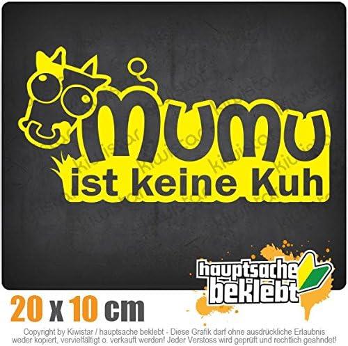 Mumu ist keine Kuh Autoaufkleber Sticker Bomb Decals Tuning Bekleben KIWISTAR Aufkleber