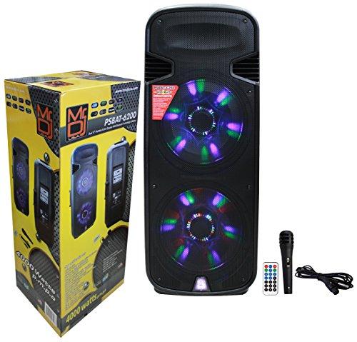 10' 200w Speaker - Mr. Dj PSBAT6200 Dual 15