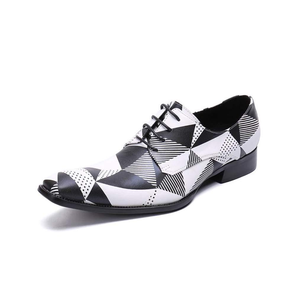 TAZAN Herren Businessschuhe mit Spitzen-Spitze, Klassische Oxford-Kleidschuhe, rutschfestes, abriebfestes Weiß