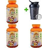 Sundown Naturals Kids, Complete Multivitamin Gummies, Disney Princess, Grape, Orange & Cherry Flavored, 180 Gummies(3 Packs)+Sundesa, Blender Bottle, Classic with Loop, 20 oz