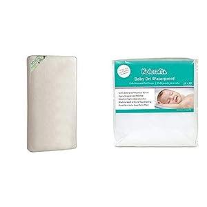 Kolcraft Pure Sleep Therapeutic 150 Waterproof Toddler & Baby Crib Mattress and Baby Dri Waterproof Fitted Crib Mattress Pad