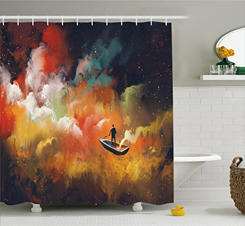 Ambesonne Fantasy Art House Decor Shower Curtain by,
