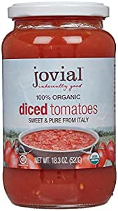 Jovial Diced Tomatoes 100% Organic, 18.3 oz