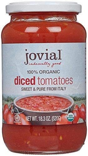 Jovial Diced Tomatoes 100% Organic, 18.3 oz