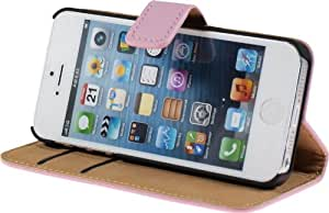 PhoneNatic Premium leather case for the iPhone 5s / 5 in Pink by PhoneNatic