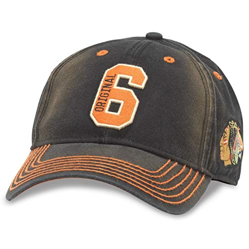 American Needle NHL Original 6 Team U2 Squared Distressed Washed Adjustable Hat (Chicago Blackhawks)