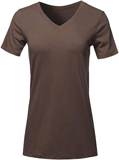 VJGOAL Moda de Verano para Mujer Color sólido con Cuello en V ...