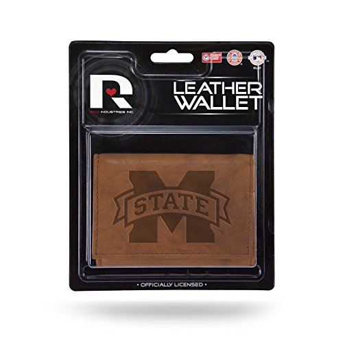 (Rico Industries NCAA Mississippi State Bulldogs Leather Trifold Wallet with Man Made)