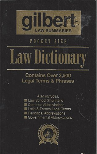Pocket Size Law Dictionary Black