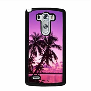 Tropical Palm Trees Sunset Beach LG G3 Protective Cell Phone Cover Case - Fits LG G3