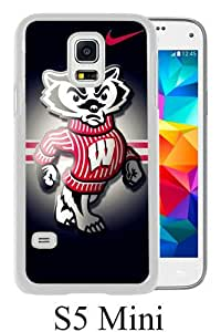 Samsung Galaxy S5 Mini Screen Case ,Wisconsin Badgers 02 White Samsung Galaxy S5 Mini Cover Fashion And Unique Designed Phone Case