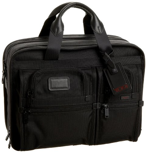 Tumi Alpha 2 T-Pass and Reg Expandable Laptop Brief, Black, One Size -  Tumi Luggage