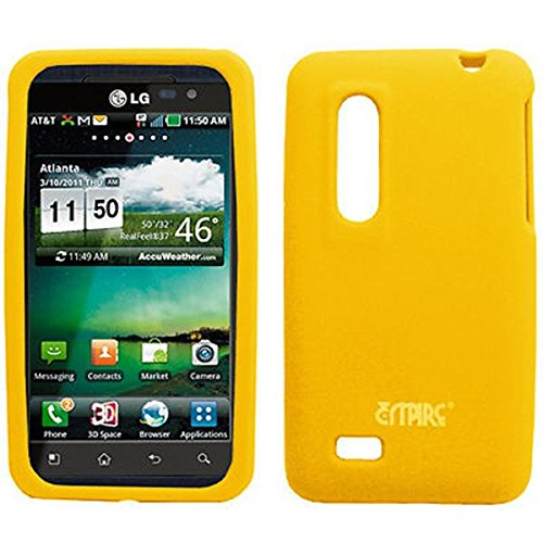 EMPIRE Gelb Silicone Skin Case Tasche Hülle Cover for AT&T LG Thrill 4G P925