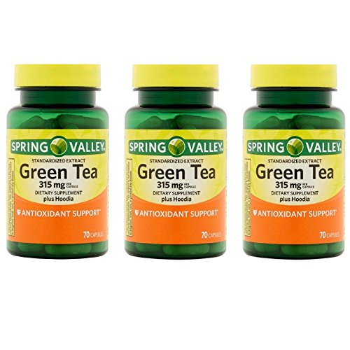 Spring Valley Green Tea Extract Capsules, 315 mg, 70 Ct (3 Pack)