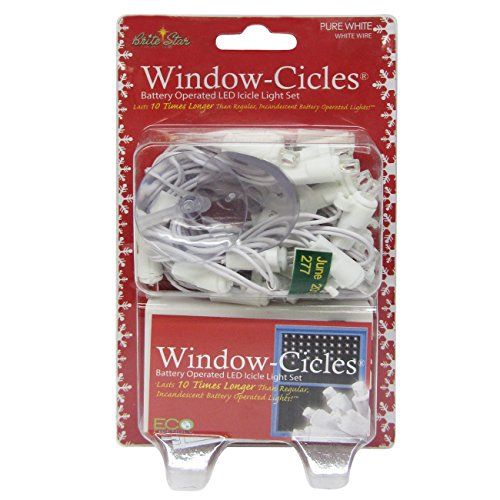 Brite Star Battery Operated Window Cicle Icicle Lights, 2...