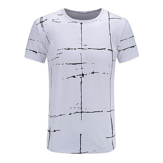 VENMO Camisetas Hombre Camisas Hombre,Casual Camiseta de Manga Corta Hombre Verano,Tops Hombre