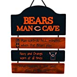 FOCO NFL Chicago Bears Team Logo Mancave Man Cave Hanging Wall Sign, Team Color, One Size
