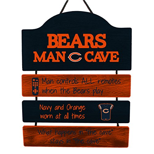 FOCO Chicago Bears NFL Mancave Team Logo Man Cave Hanging Wall Sign