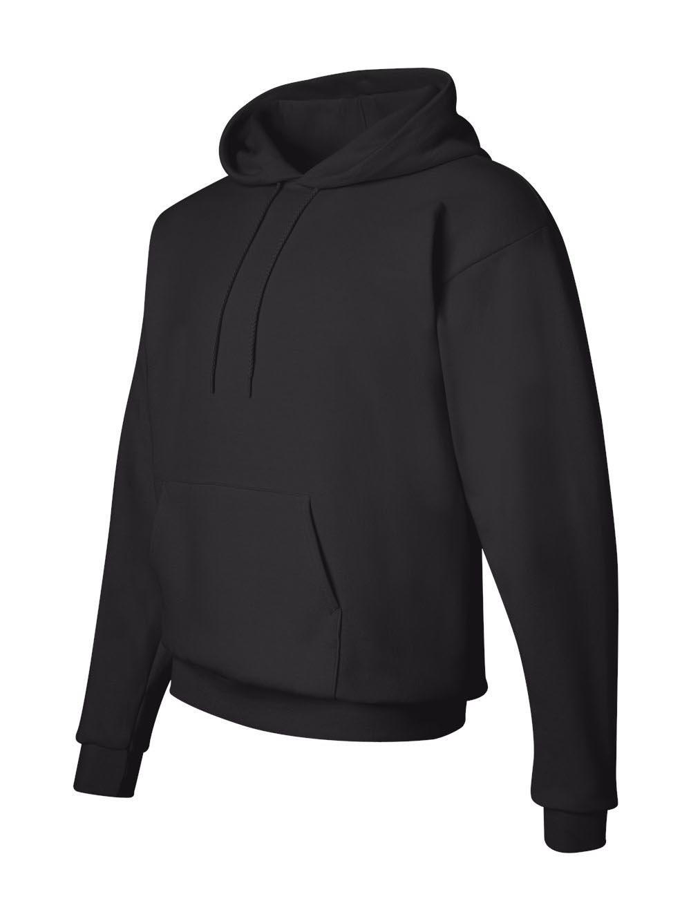 Hanes Men's Pullover EcoSmart Fleece Hoodie, Black, X-Large by Hanes (Image #3)