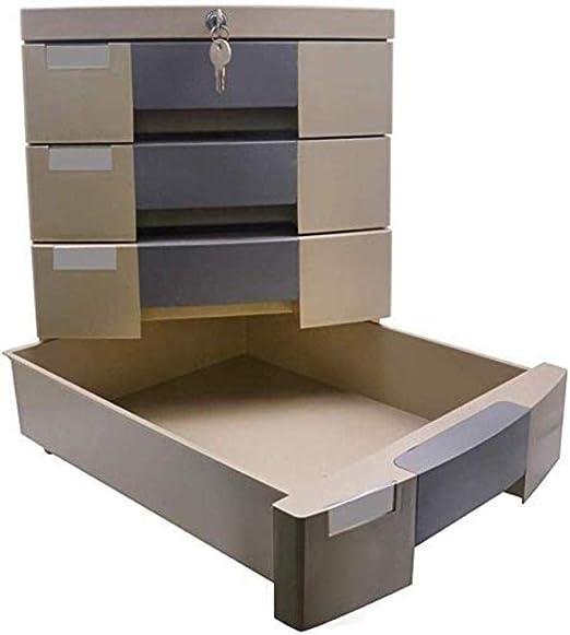 Archivadores móviles con 4 cajones para escritorio, caja de almacenamiento de datos, cerradura de llave, de plástico, 30 x 38 x 36,6 cm: Amazon.es: Hogar