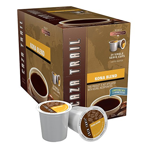 Caza Drag Coffee, Kona Blend, 24 Single Serve Cups, 9.73 Oz
